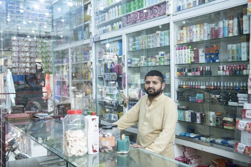 Help Nadeem restock his cosmatics shop